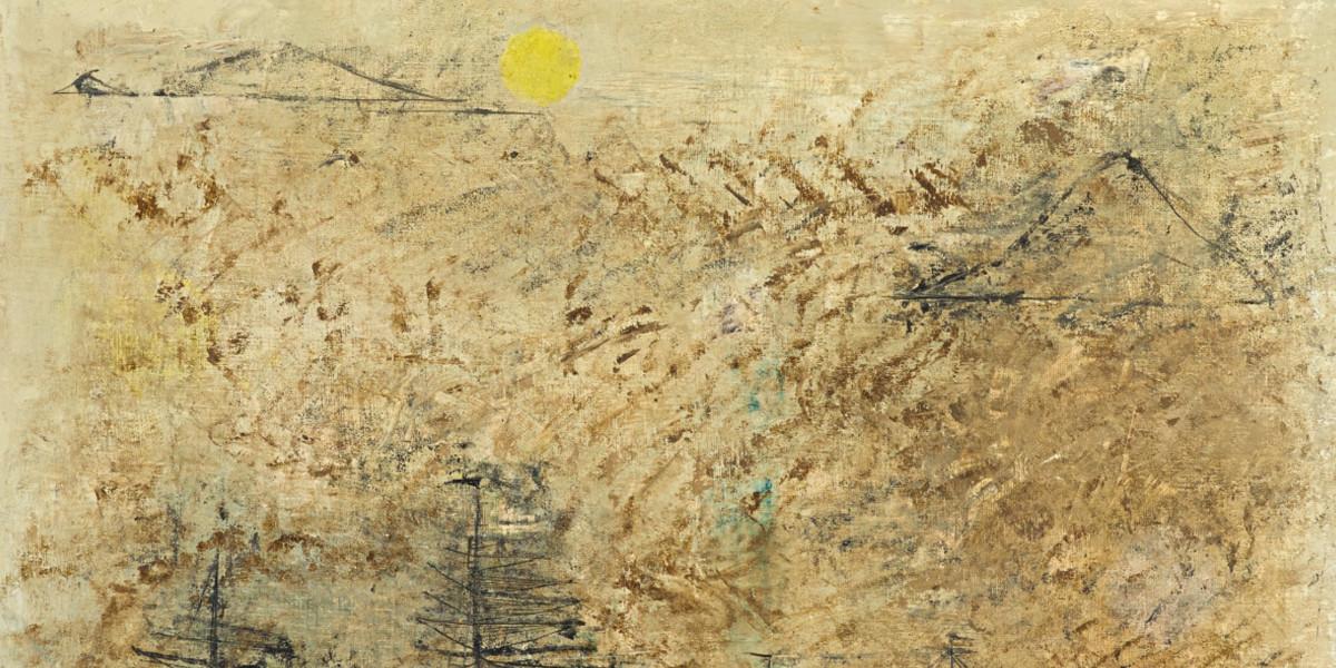 Zao Wou-Ki (Zhao Wuji) - Les Bateaux (detail)