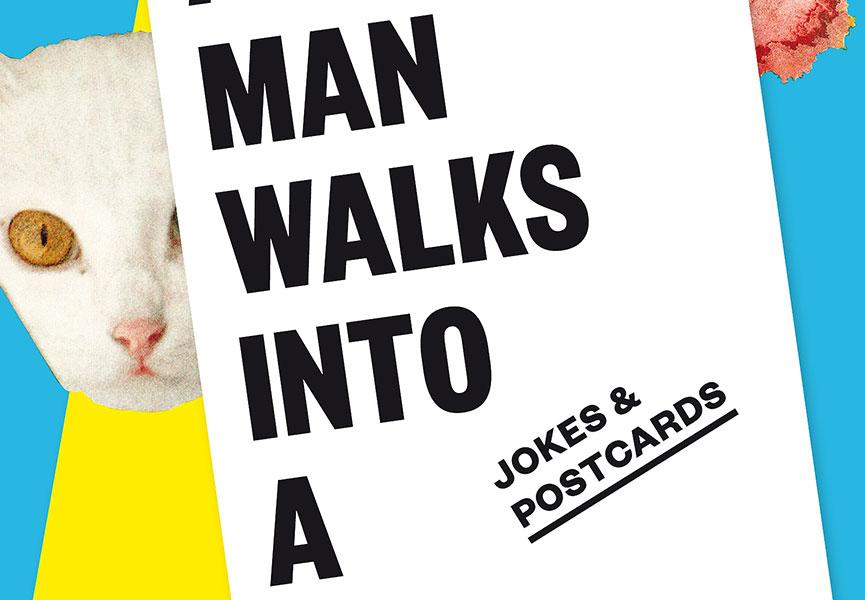 A man walks into a bar poster