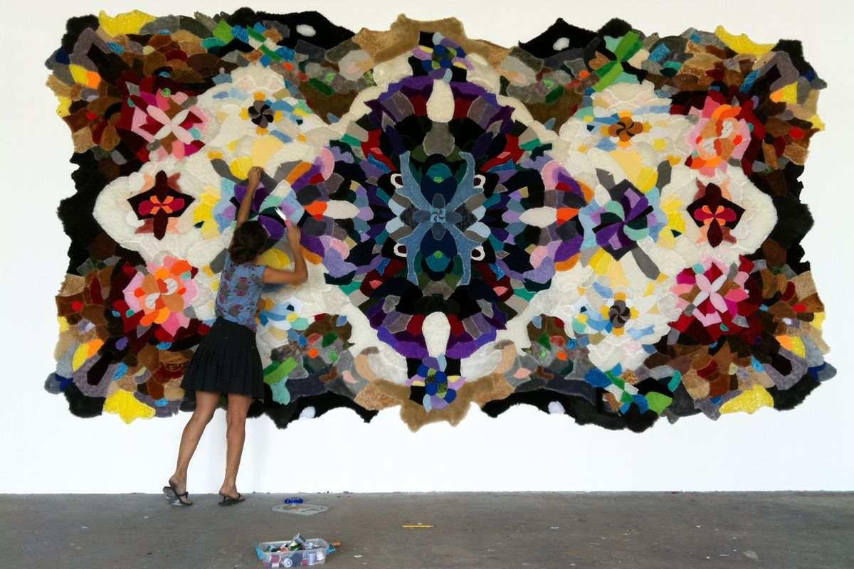 Agustina Woodgate working, via wooloo org