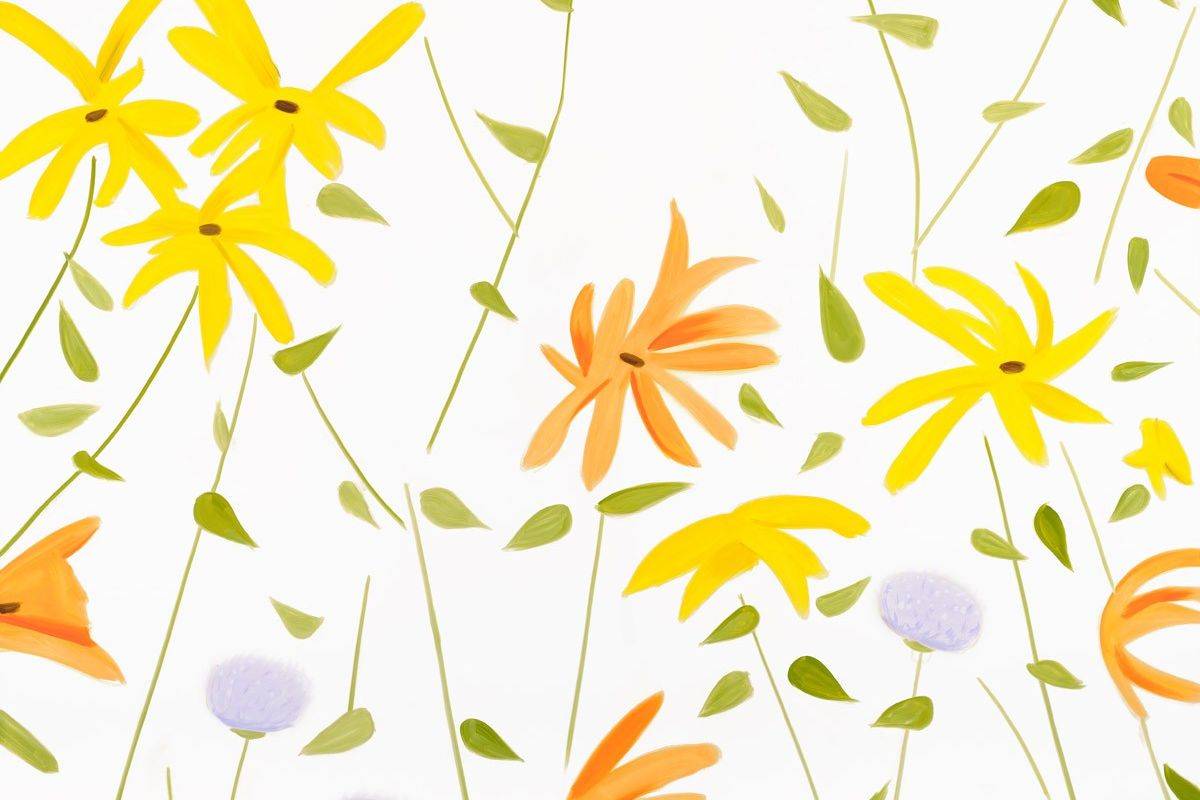 Alex Katz - Summer Flowers (detail), 2018