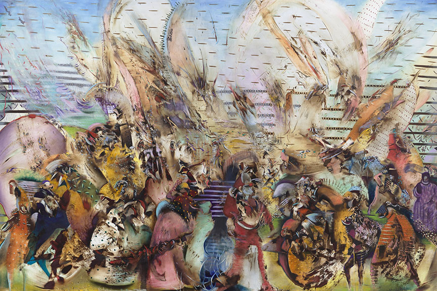 Ali Banisadr - Foreign Lands, 2015. Copyright the artist, Courtesy Galerie Thaddaeus Ropac, Paris