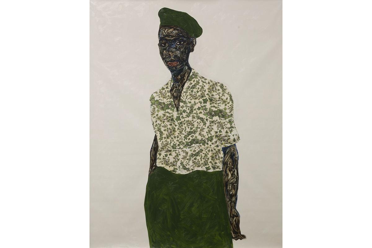 Amoako Boafo -Green Beret, 2020