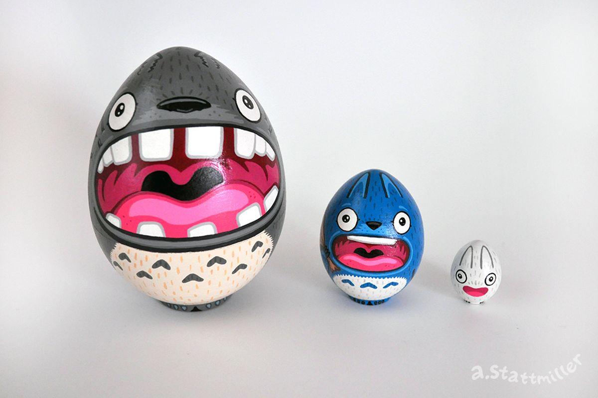 Totoro Nesting Eggs