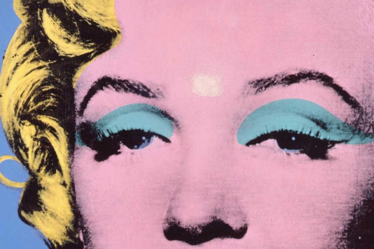 Andy Warhol - Blue Shot Marilyn, detail