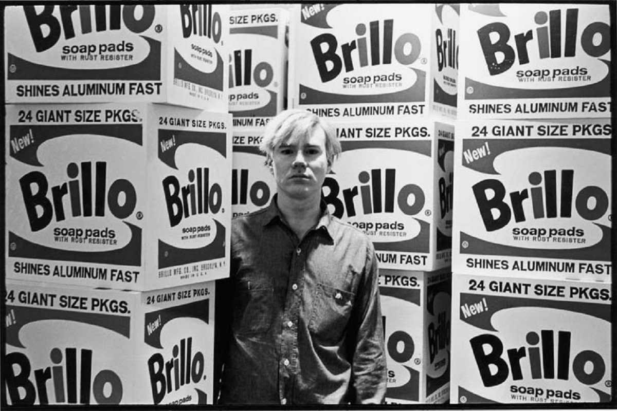 Andy Warhol - Brillo Boxes at Stable Gallery, 1964. Image via curatingthecontemporary.org