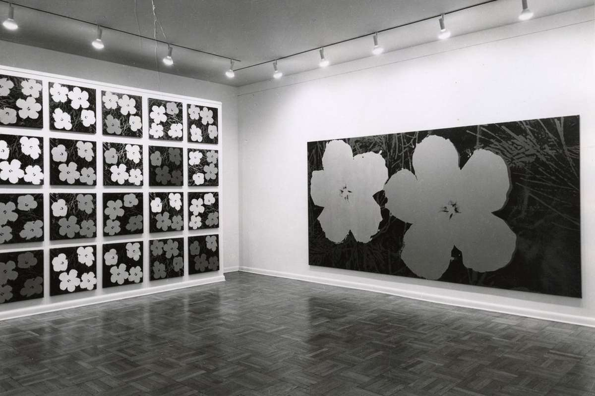 Andy Warhol - Flower Paintings at Leo Castelli Gallery