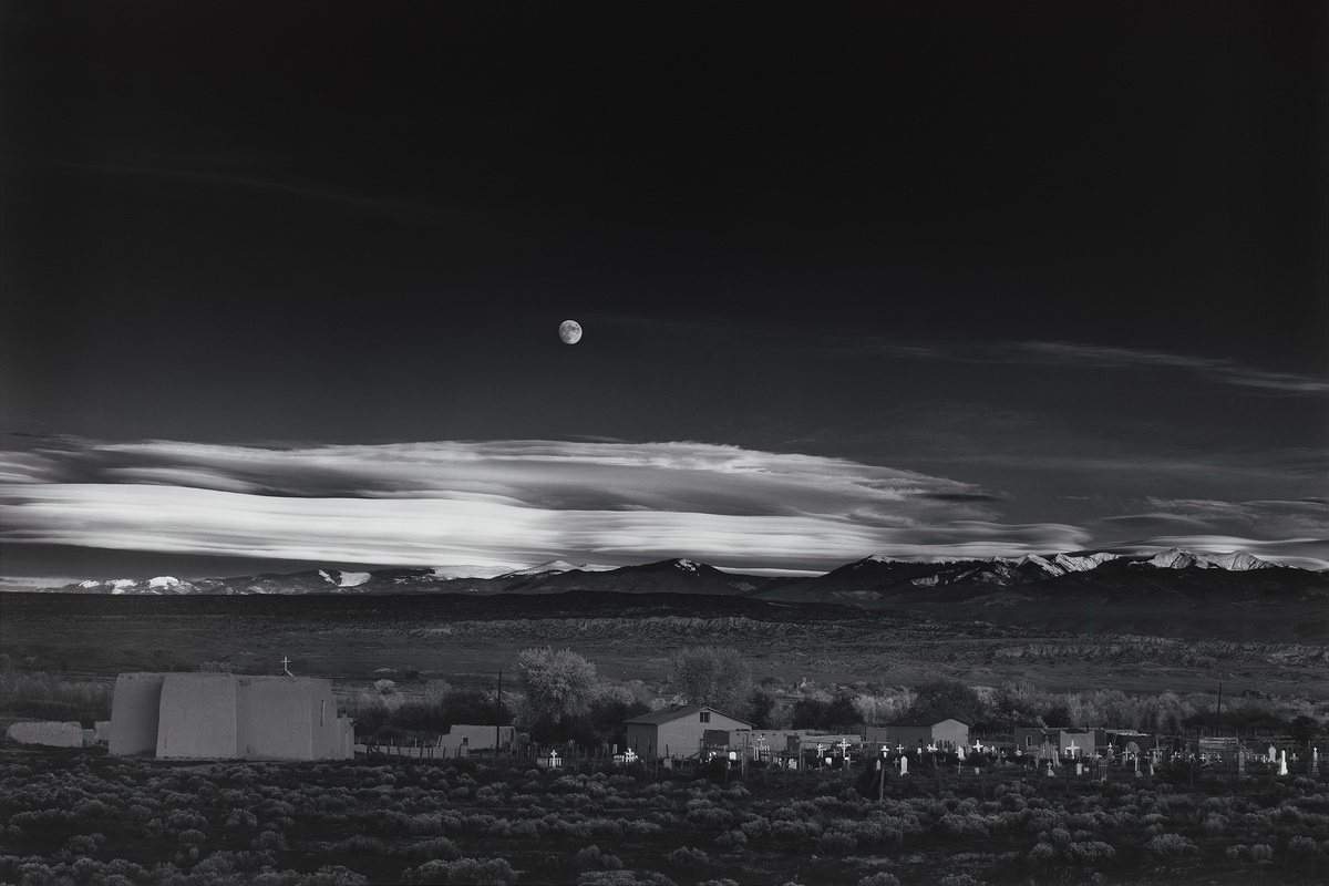 Ansel Adams - Moonrise Hernandez New Mexico