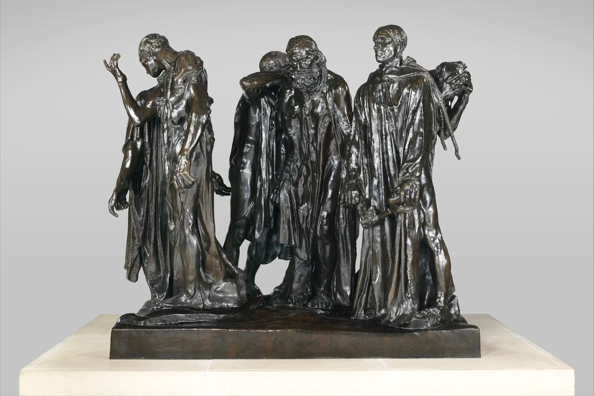Auguste Rodin - Burghers of Calais, 1884-1895 f