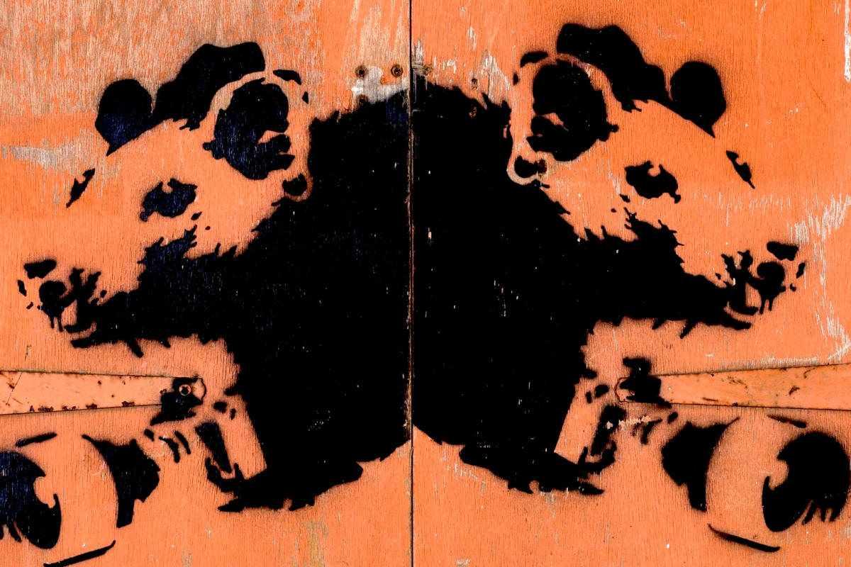 Banksy - Paparazzi Rats, 2004 (Lot 103) (detail)