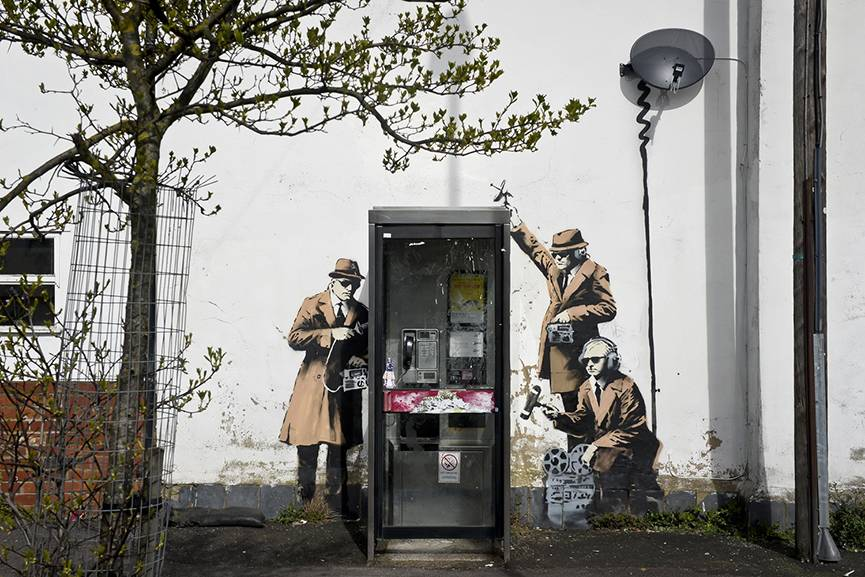 Banksy - Spy Booth, 2014