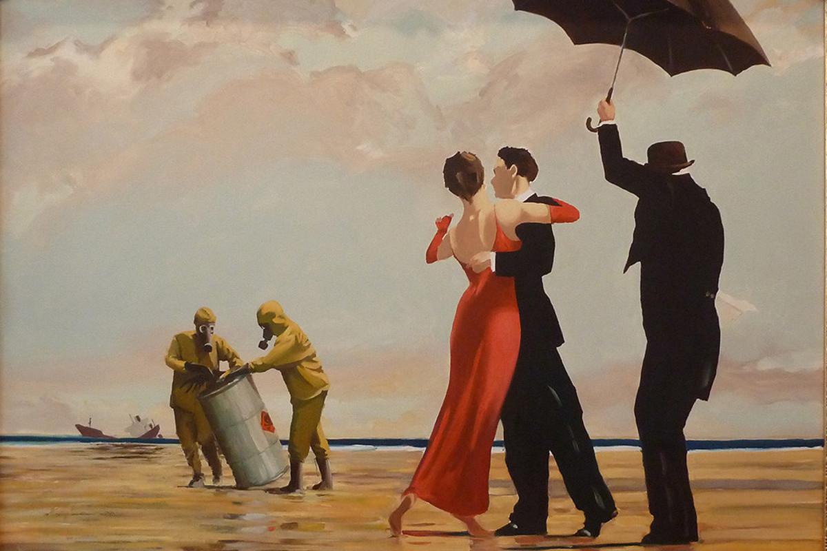 Banksy - Vettriano Beach Rescue, 2005