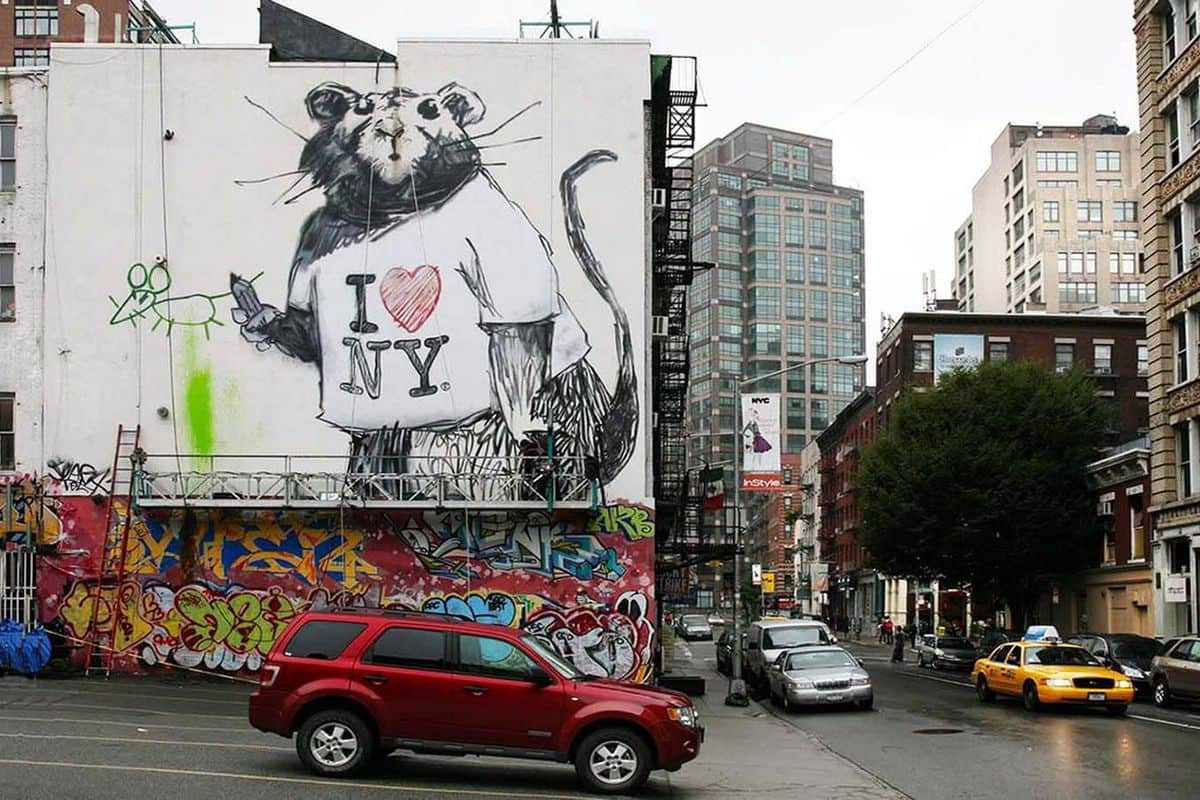 Banksy in New York, Photo by Ian Cox