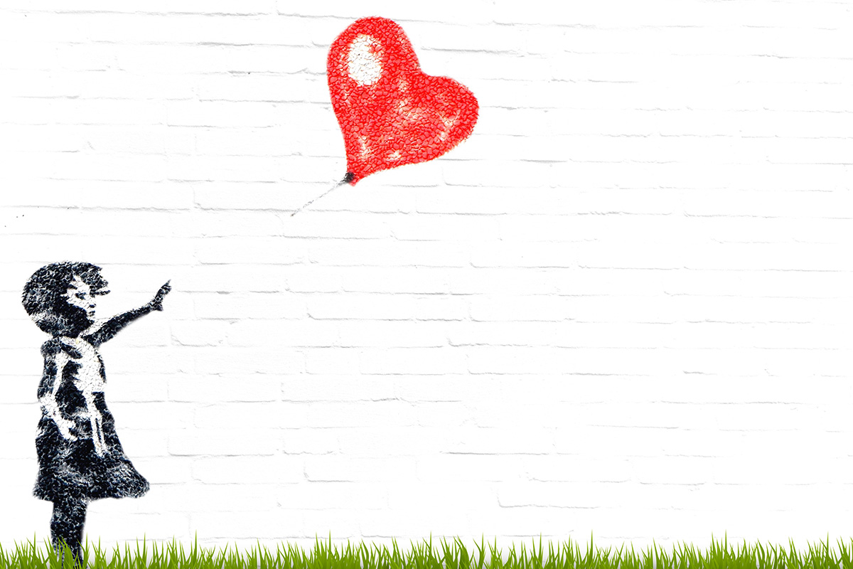 Banksy's Balloon Girl, via pixabay.com