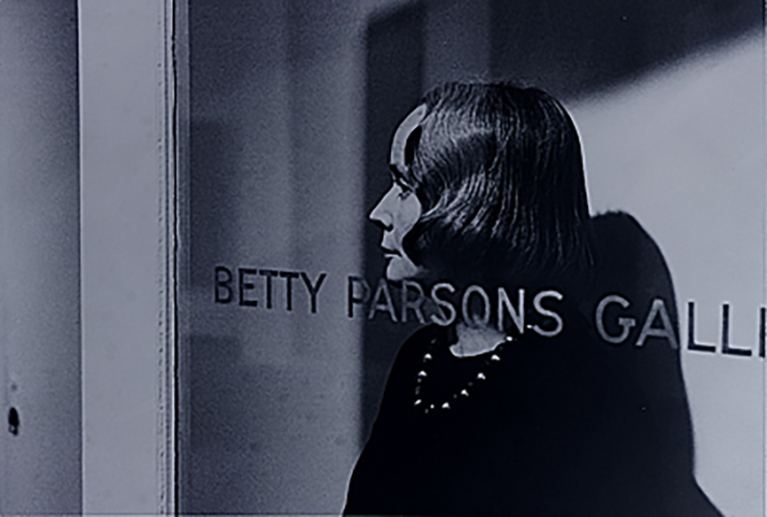Betty Parsons in her gallery