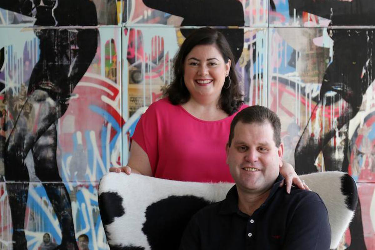 Blair and Elena, Co-Founders and Directors, Addicted Art Gallery, Singapore