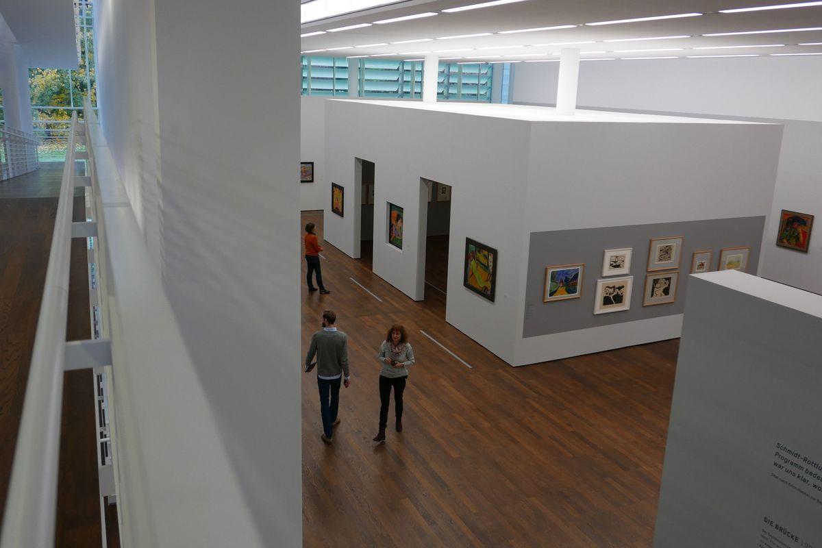 Blick in die Ausstellung DIE BRÜCKE, Museum Frieder Burda 1
