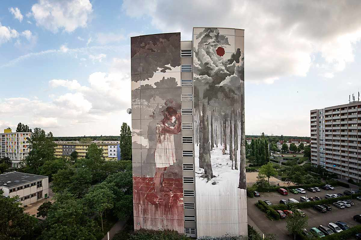 Borondo 1200 via streetartnews net
