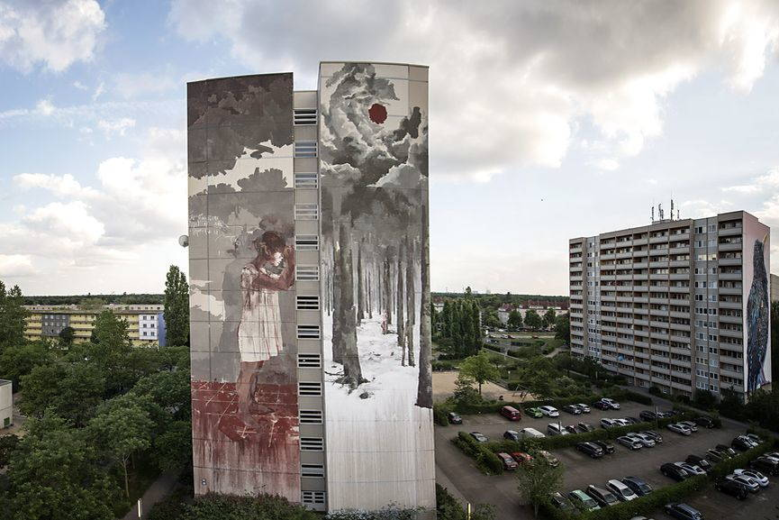 Borondo mural in Berlin, via streetartnews net