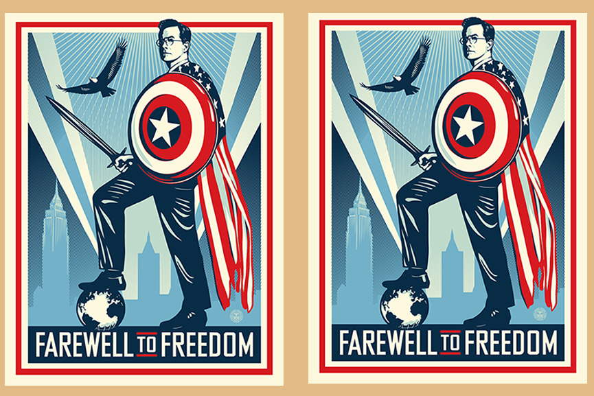 Shepard Fairey - Farewell to Freedom The Colbert Report Print