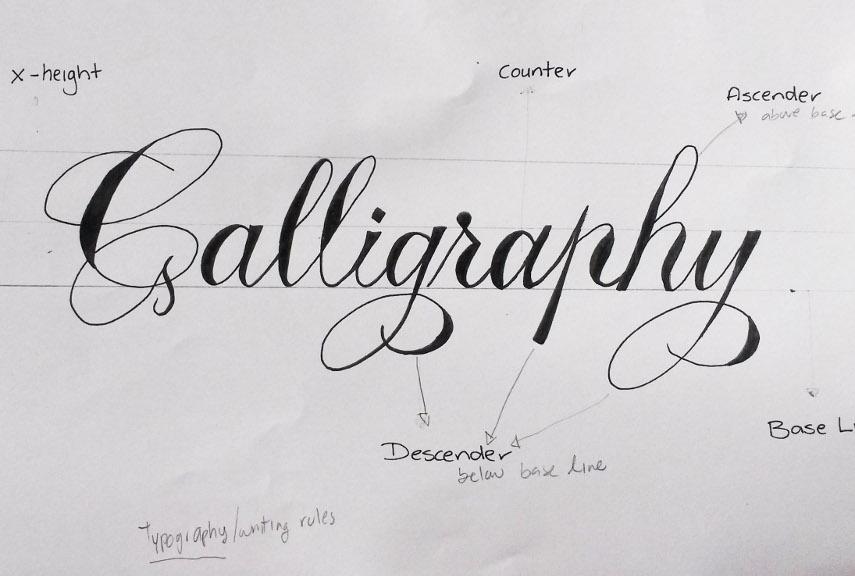 Calligraphy - Image via kenadesigncom
