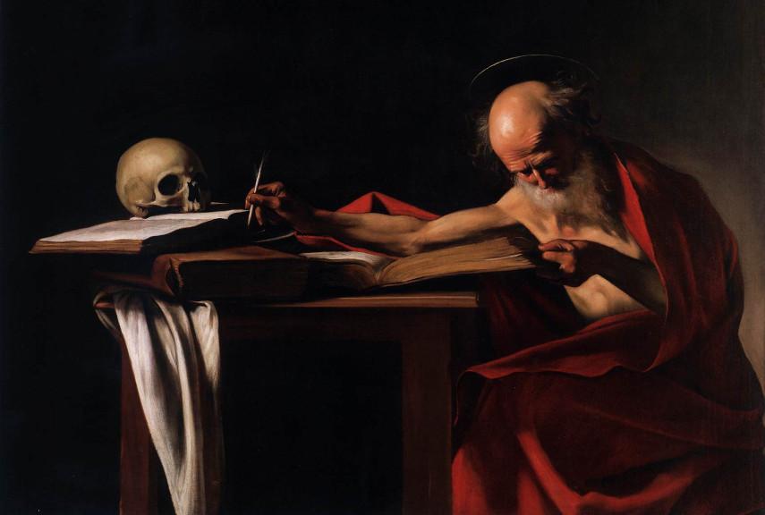 Caravaggio - Saint Jerome Writing - Image via walksofitalycom
