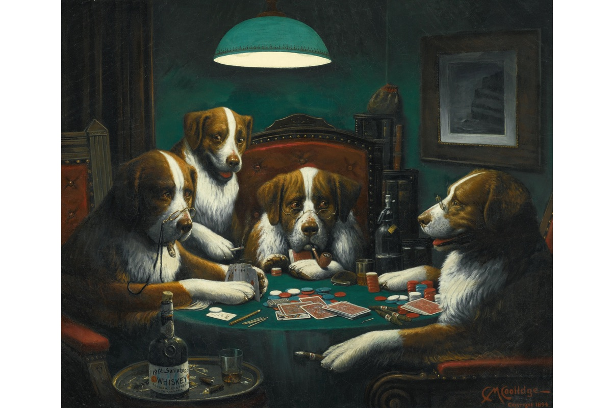 Cassius Marcellus Coolidge - Poker Game, 1894