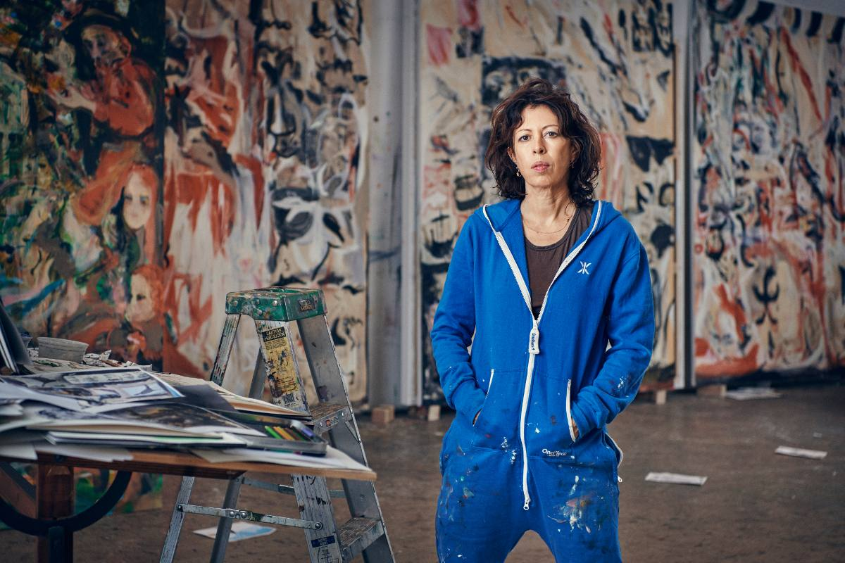 Cecily Brown in her studio