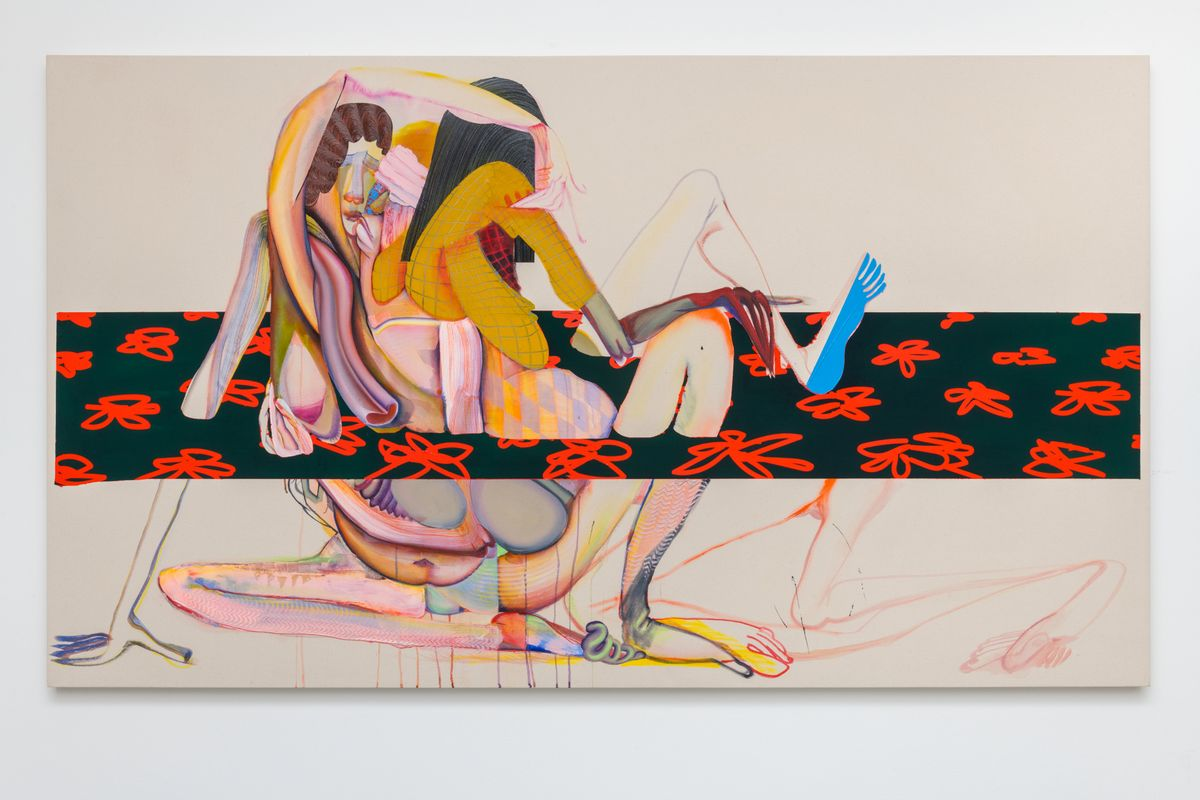 Christina Quarles, For a Flaw, For a Fall, For the End, 2018, Acylic on canvas, Courtesy of the artist and Pilar Corrias Gallery, London