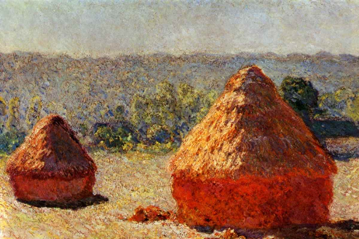 Claude Monet - Haystack. End of the Summer, detail