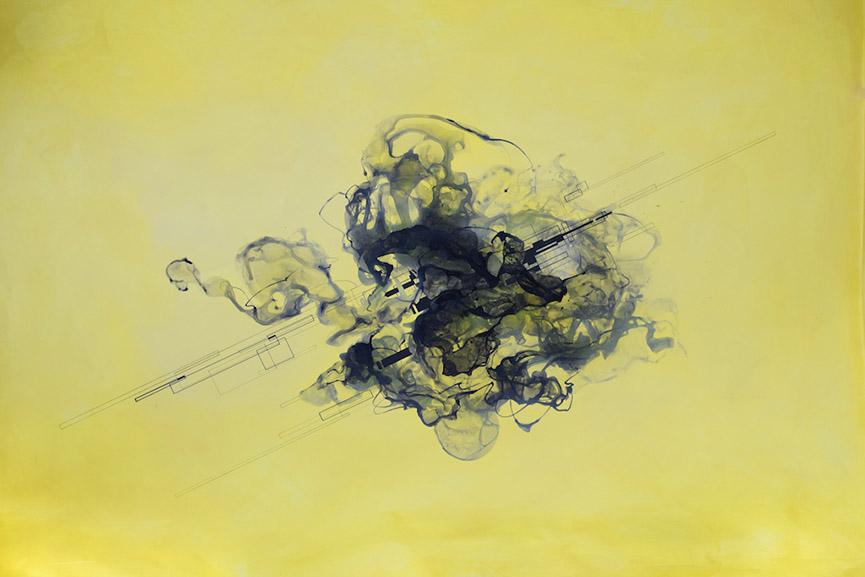 Collaboration Work, Heiko Zahlmann and Stohead - Clash II, 2016. Acrylic on canvas, 150x200 cm