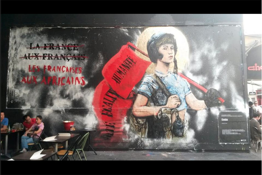 Combo's Mural in Paris featuring Joan of Arc