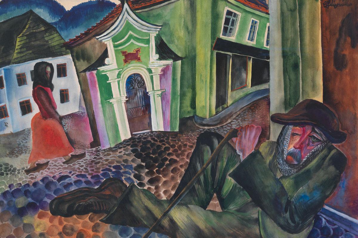Conrad Felixmuller - The Beggar of Prachatice 1924