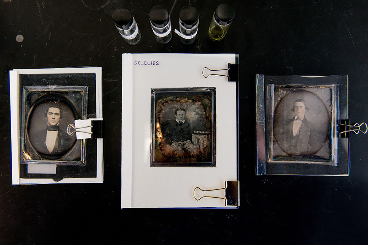 Daguerreotypes of unknown subjects from the Eastman House's study collection. Image via rochester.edu