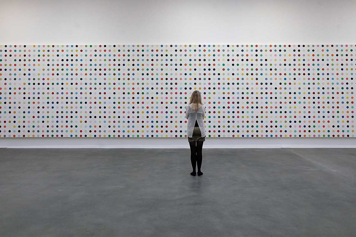 Damien Hirst Spot Painting, image via Observer