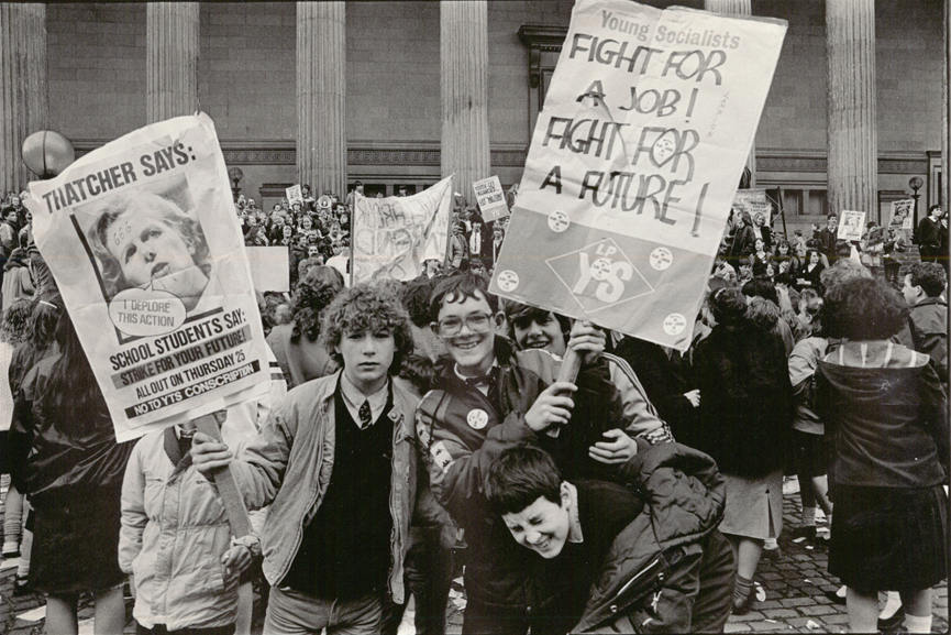 Dave Sinclair - Youth Training Scheme Protest Liverpool 25 April 1985 detail - © Dave Sinclair