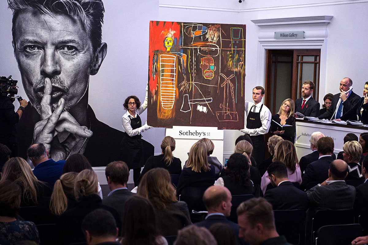 David Bowie's art collection at Sotheby's