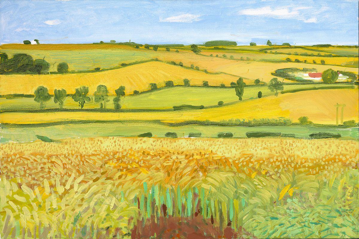 David Hockney -Woldgate Vista, 27 July 2005