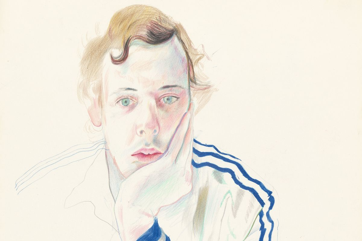 David Hockney - Gregory (detail), 1978