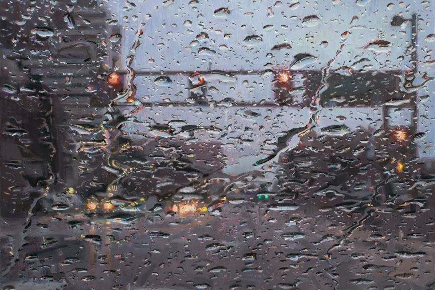 Dianne Dunbar -Rain on windshield, detail