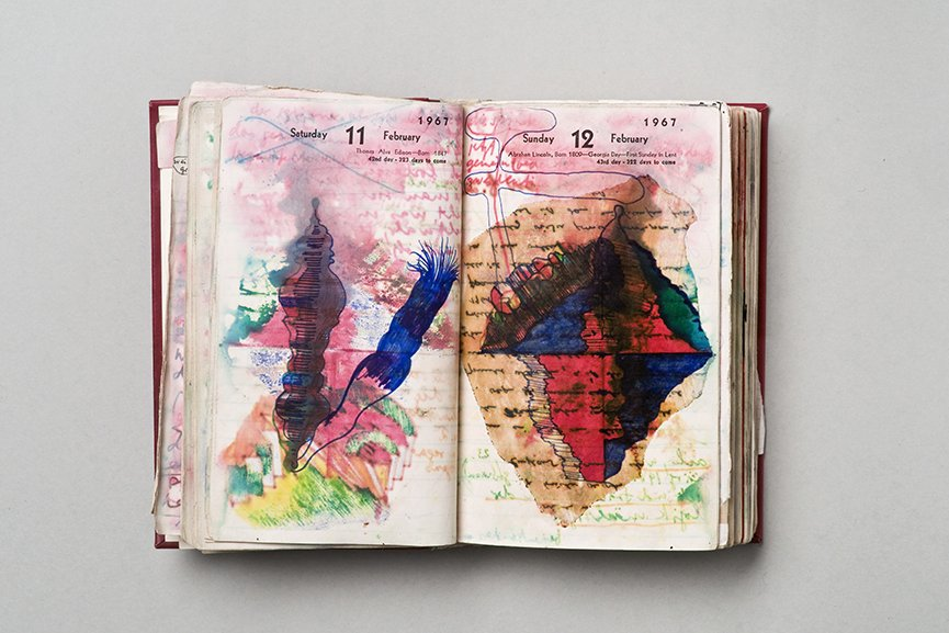 Dieter Roth - Diaries. Courtesy of the artist