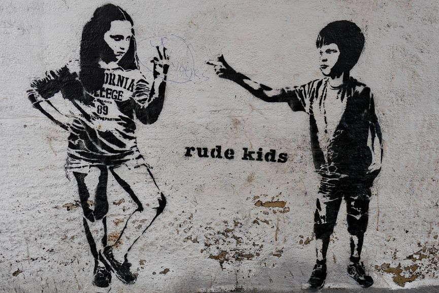 Dotmasters - Rude Kids, via tigergrowl.wordpress com