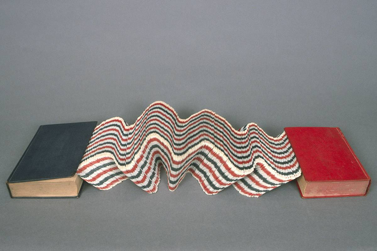 Doug Beube - Collpase, 1998. 12 x 68 x 3.75 inches. Courtesy of JHB Gallery