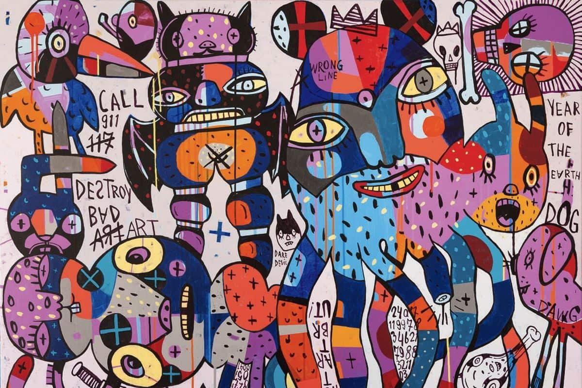 Eddie Hara - Call 911. Destroy Bad Art (detail)