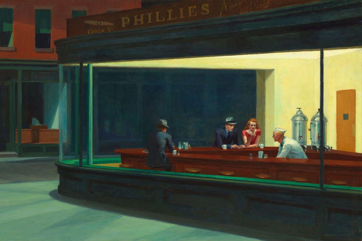 Edward Hopper - Nighthawks (detail), 1942