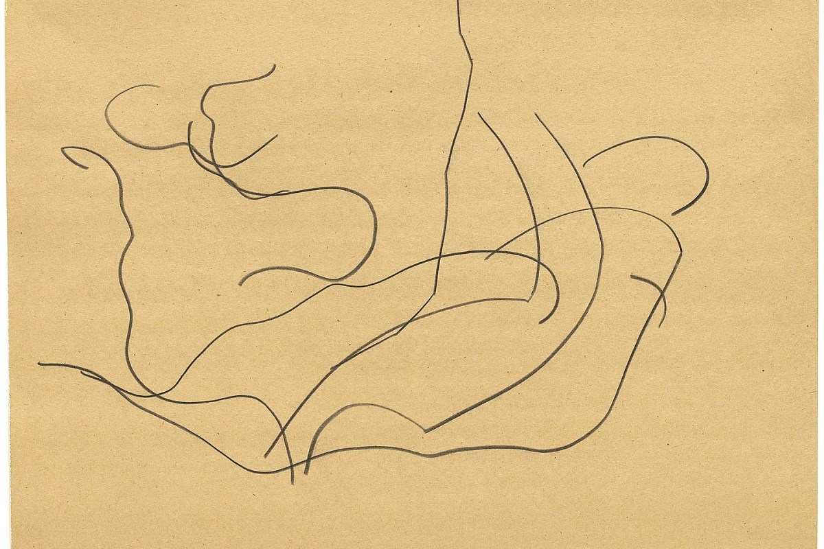 Ellsworth Kelly - Automatic Drawing, Pine Branches VI, 1950, detail