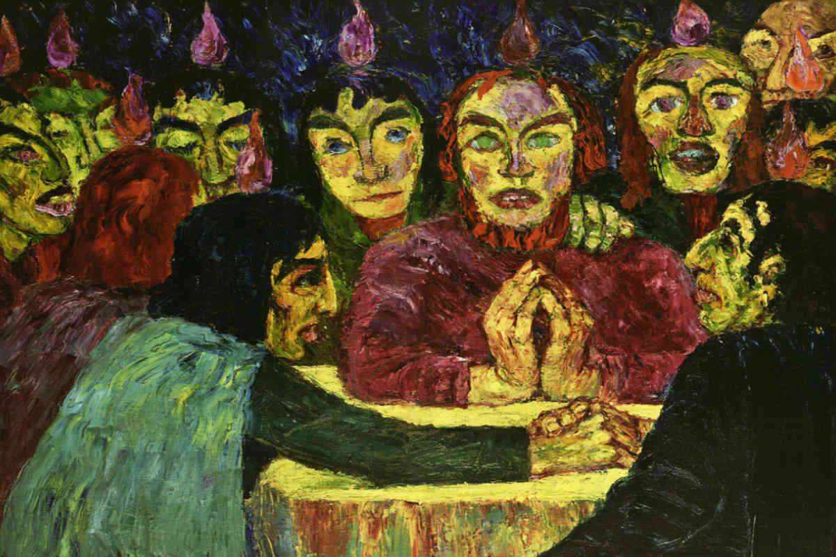 Emil Nolde - Pentecost, 1909, Labeled Degenerate Art