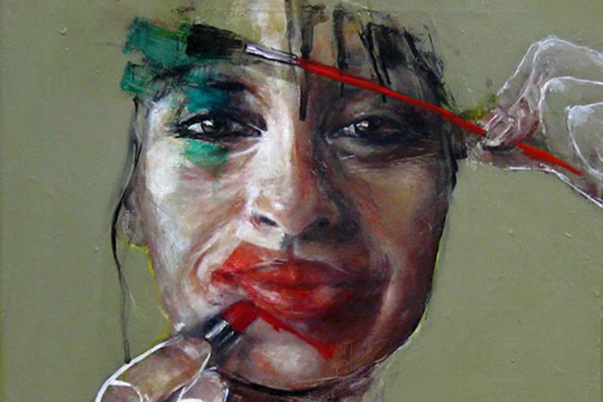 Esther Erlich - Touch Up - 2015 - Acrylic on canvas, detail