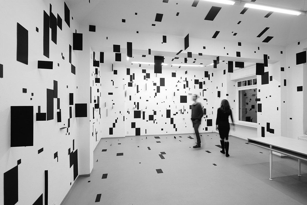 Esther Stocker - Space Installation. Image via lodownmagazine.com