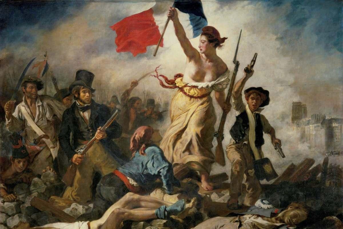 Eugène Delacroix - Liberty Leading the People, detail