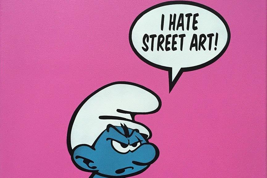 FAKE- I hate streetart - 50x40cm detail
